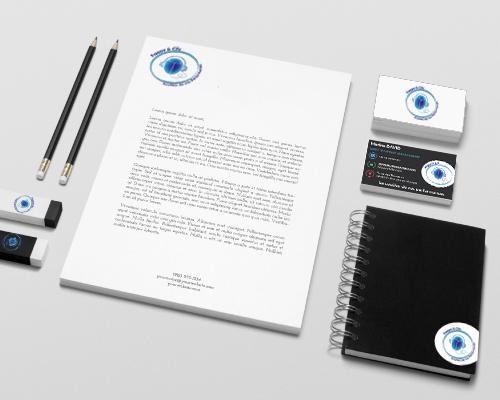 Papeterie Frappe & Clic réalisation NCN Communication