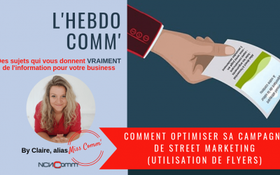 Comment optimiser sa campagne de Street Marketing (utilisation de flyers)
