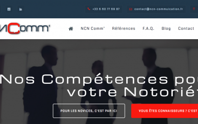 Le site NCN Comm' enfin en ligne !