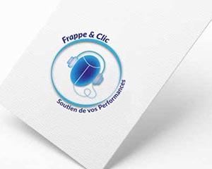 dernière réalisation - logo - Frappe & Clic - NCN Comm'