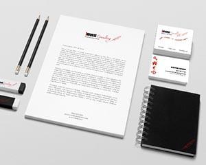 Dernière réalisation - papeterie - Imvest Consulting - NCN Comm'