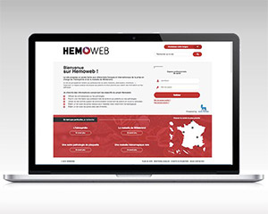 Dernière réalisation - Site web - Hemoweb - NCN Comm'