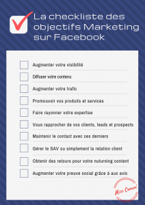 Checklist des objectifs Marketing sur Facebook - NCN Comm'