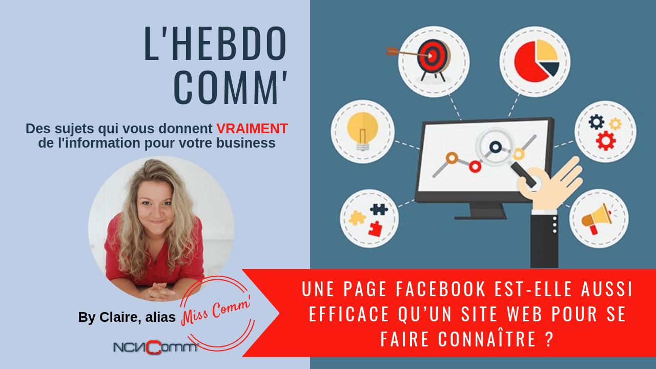 Page Facebook vs Site web, que vaut-il mieux ? NCn Comm', Experte marketing et Communication - Val d'Oingt
