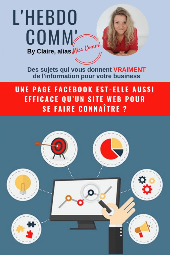 Page facebook ou site internet pour se faire connaitre ? NCN Comm