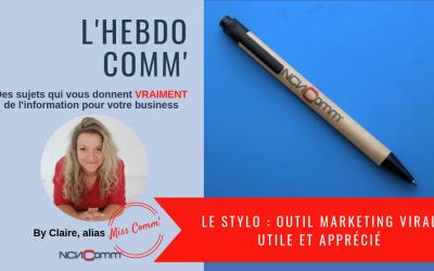 Le stylo : outil marketing viral utile et apprécié