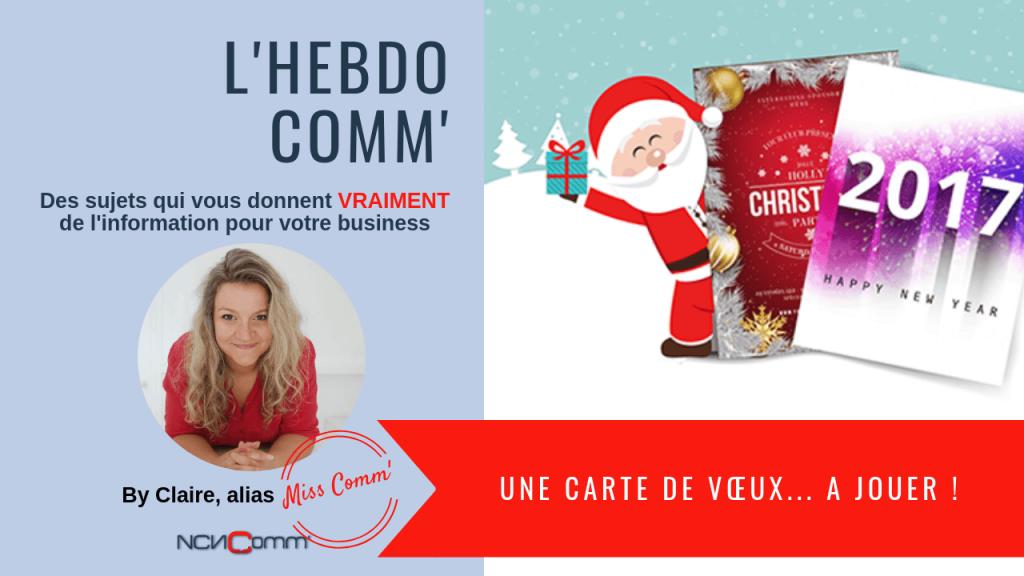 Des cartes de vœux, action marketing indispensable - NCN Comm'