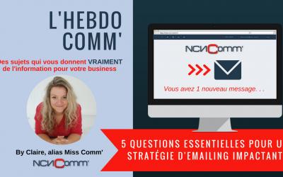 5 questions essentielles pour une stratégie emailing impactante