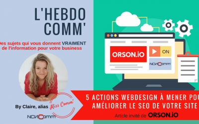 5 actions webdesign pour améliorer le SEO de votre site web