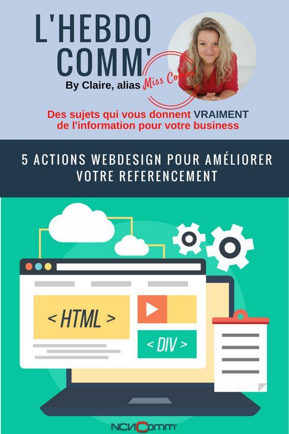 5 actions webdesign pour ameliorer son référencement - via @NCN Comm
