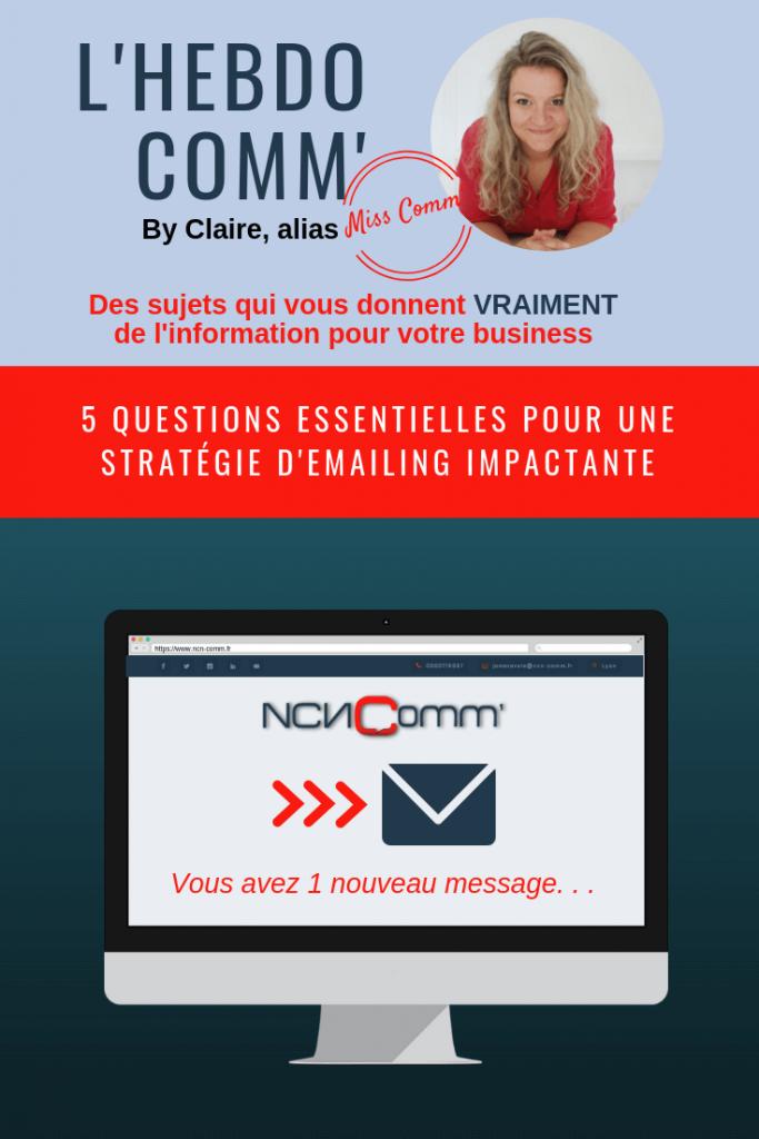 5 Questions essentielles pour uns stratégie Emailing impactante - @NCN Comm