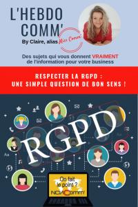 Respecter la RGPD, une affaire de bon sens. Claire Négrier, NCN Comm', stratégie Marketing et supports de communication région lyonnaise