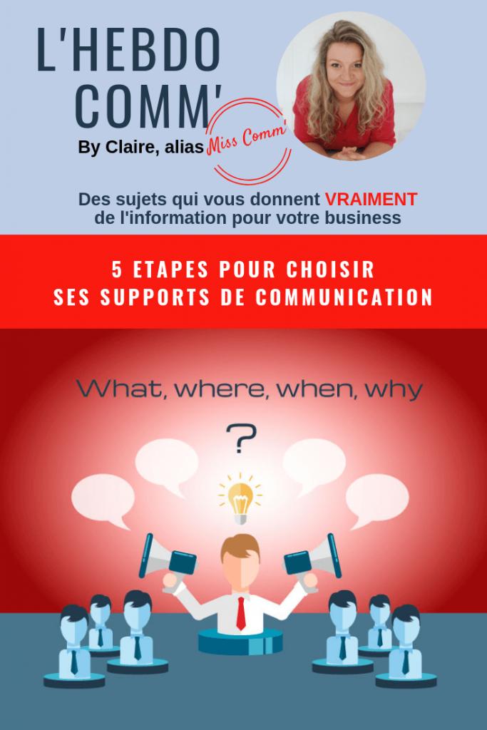 5 étapes pour choisir ses supports de communication - via @MissCommFrance