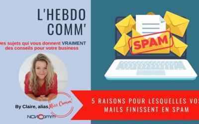 5 raisons pour lesquelles vos mails finissent en spam