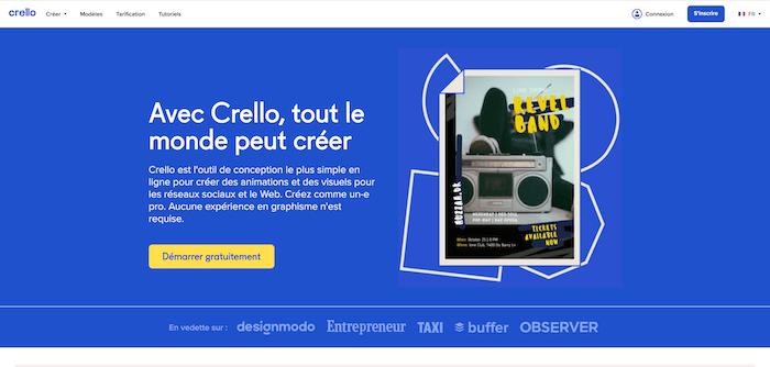 Crello - Application de création de contenu pour instagram - NCN Comm', social media marketing