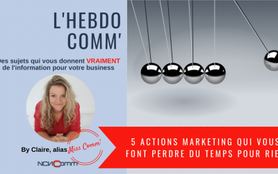 5 actions marketing qui vous font perdre du temps pour rien